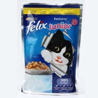 Felix Fantastic, корм для котов JUNIOR, курица, 100 г.
