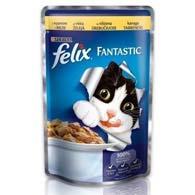 Felix Fantastic, корм для котов, курица, 100 г.