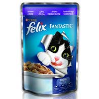 Felix Fantastic, корм для котов, ягенок, 100 г.