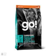 GO! Carnivore Grain Free Chicken, Turkey, Duck Recipe, корм для взрослых собак и щенков, с курицей, индейкой и уткой