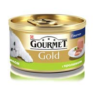 Purina Gourmet Gold с кроликом 85 г, корм для кошек, паштет