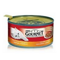Purina Gourmet с курицей, индюком, 195 г, корм для кошек