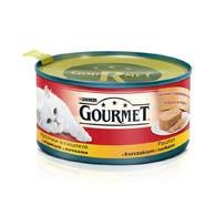 Purina Gourmet с курицей, почками 195 г, корм для кошек, кусочки в паштете