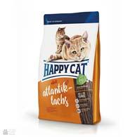 Happy Cat Adult Atlantik-Lachs, сухой корм с лососем для кошек с длинной шерстью