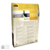 Фото обратной стороны упаковки корма для щенков средних пород Acana Puppy and Junior 33/20