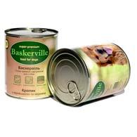 Baskerville с кроликом, вермишелью и морковью 800 г, консервы для собак