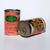 Baskerville с лососем 400 г, консервы для кошек