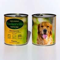 Baskerville с мясом петуха, рисом и цукини 800 г, консервы для собак