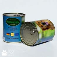 Baskerville с ягненком и петухом 800 г, консервы для собак