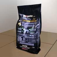 Обратная сторона упаковки корма Миогатто 0.2 с курицей и рисом, 1,5 кг