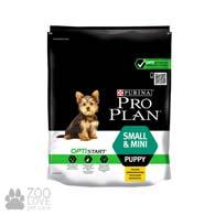 Изображение упаковки сухого корма для щенков малых пород Проплан Purina Pro Plan Puppy Small & Mini, 700 г (2017)