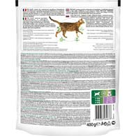 Обратная сторона упаковки корма для кастрированных кошек Pro Plan Sterilised с индейкой, 400 г