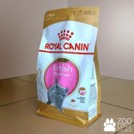 Упаковка упаковка корма Royal Canin BRITISH SHORTHAIR KITTEN 400 грамм