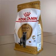 Упаковка корма для врозлых кошек Royal Canin BRITISH SHORTHAIR для короткошерстных британцев 400 гр.