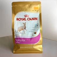 Фото корма для взрослых кошек Royal Canin SPHYNX ADULT, 400 грамм (дизайн до 2018 года)