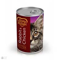 Lovely Hunter Kitten Rabbit & Chicken, консервы для котят с кроликом и курицей
