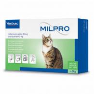 Милпро 16 мг / 40 мг (Virbac) Таблетки для перорального применения, для котов
