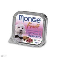 Monge Fruit Chicken & Raspberry, консервы для собак, с курицей и малиной