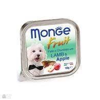 Monge Fruit Lamb & Apple, консервы для собак, с ягненком и яблоками