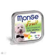 Monge Fruit Salmon & Pear, консервы для собак, с лососем и грушей