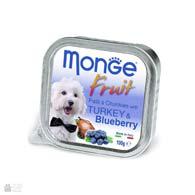 Monge Fruit Turkey & Blueberry, консервы для собак, индейка с черникой