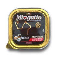 Morando Miogatto с говядиной и овощами, консервы для стерилизованных кошек