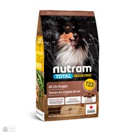 Nutram T23 Total Grain Free Chiken, Turkey & Duck, беззлаковый холистик корм для собак с птицей