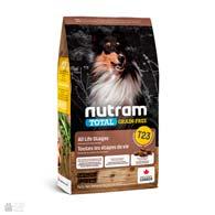 Nutram T23 Total Grain Free Chiken, Turkey & Duck, беззлаковый холистик корм для собак с птицей