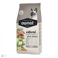 Ownat Classic Light Cat, корм для кошек с избыточным весом