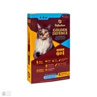 Palladium Golden Defence, капли на холку от блох и клещей для кошек весом от 4 до 8 кг
