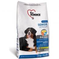 1st Choice Senior Medium&Large Chicken, корм для пожилых или малоактивных собак средних и крупных пород