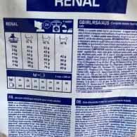 Рекомендации по кормлению кормом Royal Canin RENAL для кошек