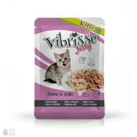 Консервы для котят Vibrisse Jelly Kittens с тунцом, курицей в желе