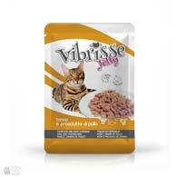 Консервы для котов Vibrisse Jelly с тунцом, куриной ветчиной в желе