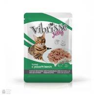 Консервы для кошек Vibrisse Jelly с тунцом, корюшкой в желе