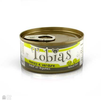 Консервы для собак Tobias с говядиной, овощами