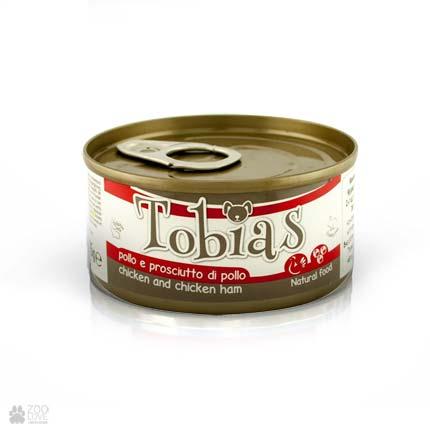 Консервы для собак Tobias с курицей, куриная ветчиной