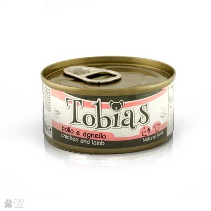 Консервы для собак Tobias с курицей, ягненком