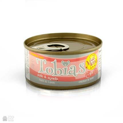 Консервы для собак Tobias Menu с курицей, ягненком
