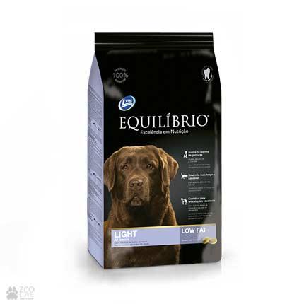 Сухой низкокалорийный корм для собак средних и крупных пород Equilibrio Light All Breeds