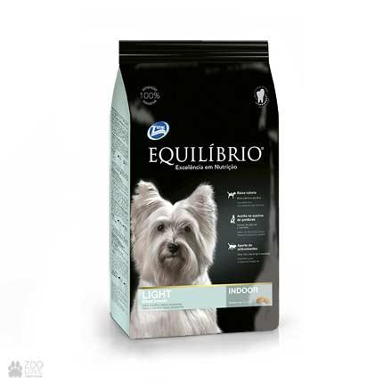 Сухой низкокалорийный корм для собак мелких пород Equilibrio Light Small Breeds