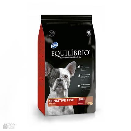 Сухой корм для собак с чувствительным пищеварением Equilibrio Sensitive Fish