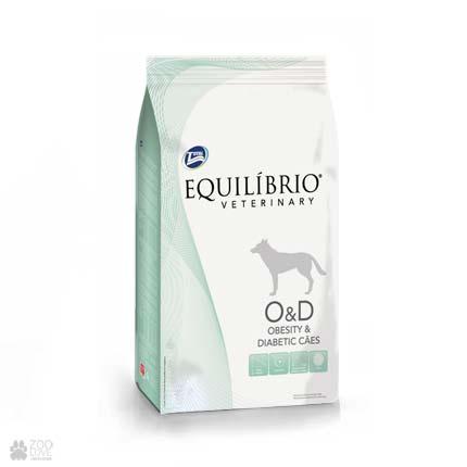 Сухой ветеринарный корм для собак при ожирении, диабете Equilibrio Obesity & Diabetic OD