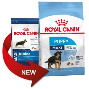 Royal Canin Maxi Junior становится Puppy