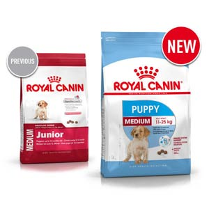 Royal Canin Medium Junior становится Puppy